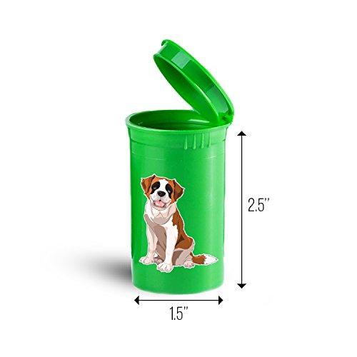 St Bernard Dog Storage Organizer Drug Pill Case ID 1433G