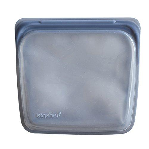 Stasher Reusable Silicone Food Bag Sandwich Bag Sous vide Bag Grey