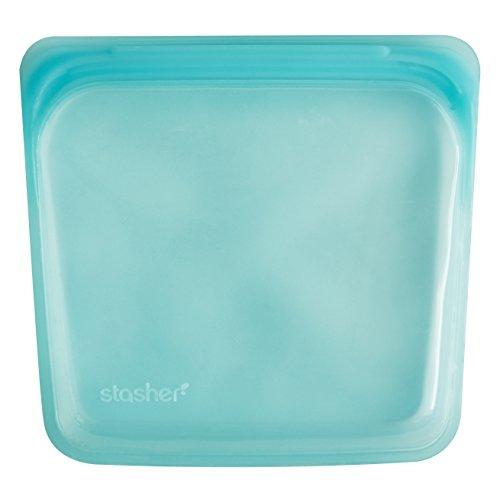 Stasher Reusable Silicone Food Bag Sandwich Bag Sous vide Bag Aqua