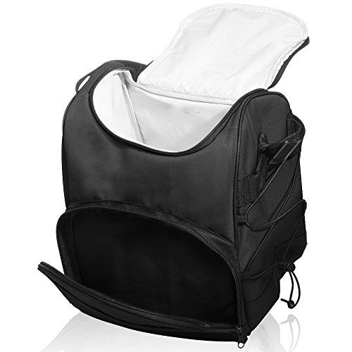 Large Insulated Cooler Bag by Sacko with Adjustable Shoulder Strap Black For Men Women Great for Work Picnics Camping etc