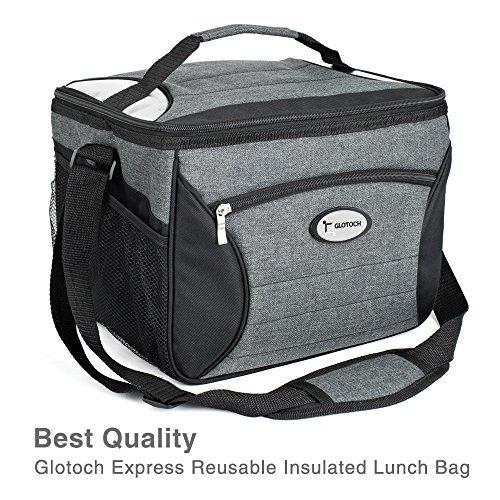Glotoch Medium Meal Prep Bag Cooler Bag Insulated Lunch Bag Box