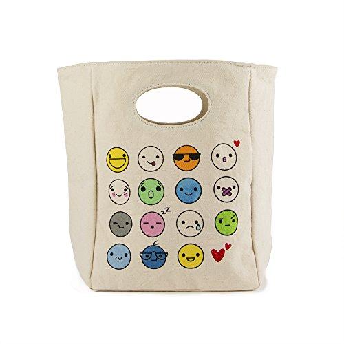Fluf Organic Cotton Lunch Bag Emoji