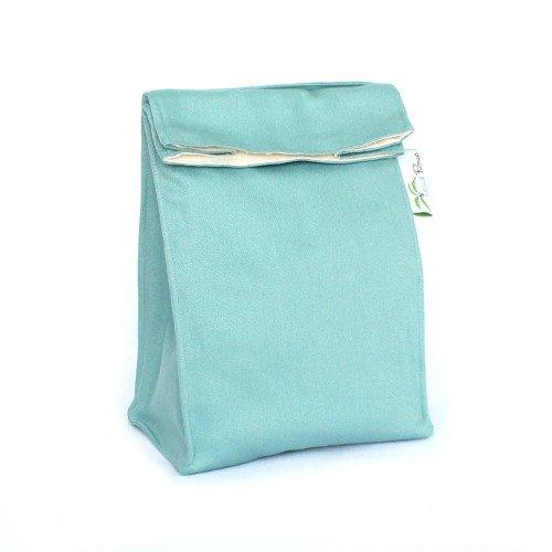 Island Picnic Organic Cotton Lunch Bag - Reusable Insulated - Aqua Blue