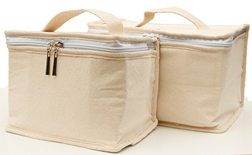 YORKBAG Cotton lunch cooler bags  set of 2 sizes