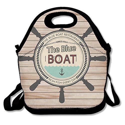 ETL Navigation 100 Polyester Fiber Cute Personalized Insulated Reusable Food Bag For Men Women Adults Kids Toddler