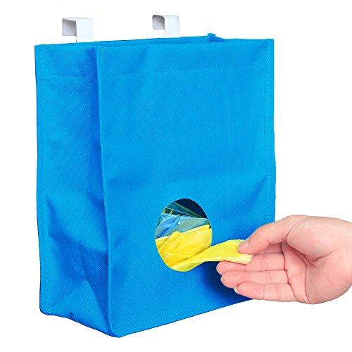 Buy Bag Dispenser  Practical Grocery Rubbish Trash Bag Storage with Hanging Holder  Waterproof Space Saving Organizer with Cabinet Cupboard Door Hook  Blue  1230