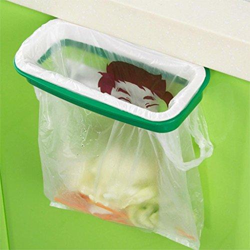 Funnytoday365 Hook Type Kitchen Cupboard Door Back Style Bracket Trash Garbage Bag Garbage Bag Storage Rack Shelf 80G