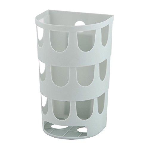 uxcell Plastic Household Kitchen Self Adhesive Garbage Trash Bag Storage Holder Box Light Blue