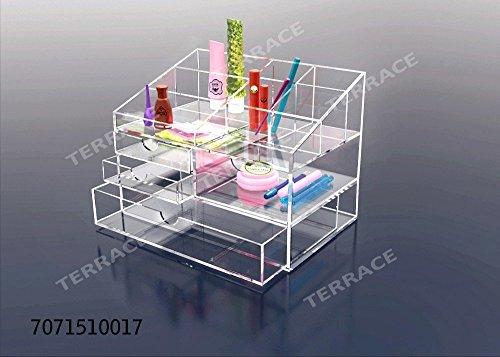Clear Acrylic Jewelry Storage caseLucite Cosmetic Makeup Stand HolderPlexiglass Stationery Drawer BoxAcrylic HomeOffice Desk Accessories Organizer