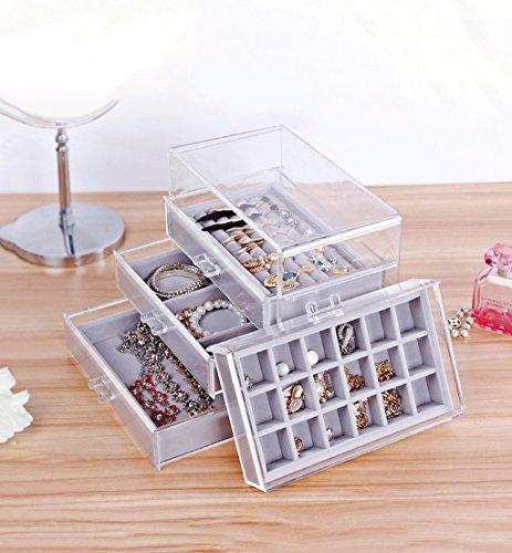 Jewelry box transparent acrylic jewelry storage box desktop drawer sorting racks