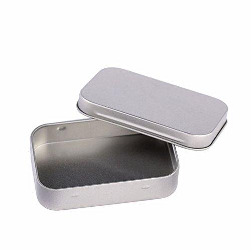 Windspeed Metal Hinge Top Tin ContainersJewelry Box for Crafts Geocache Metal Jewelry BoxStorage Kit