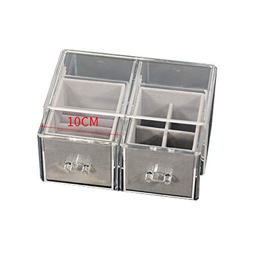 BGXC Female Jewelry Box Several Storage Compartments Jewelry Organizer and Storage Transparent Plastic135X24X11cmC