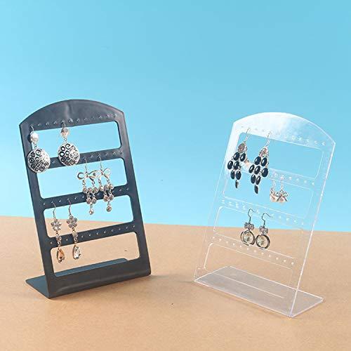 Cumtur 1pcs 48 Hole Earrings Ear Studs Display Holder Stand Showcase Plastic Jewelry Organizer Rack Flat Earring Holder