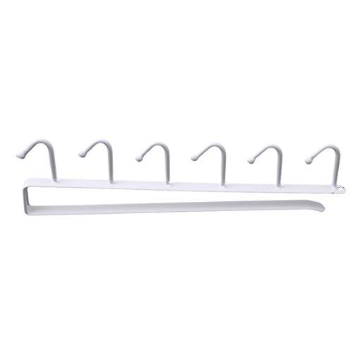 CH Kitchen Storage Rack Cupboard Hanging Hook Hanger Chest Storage Organizer Holder White