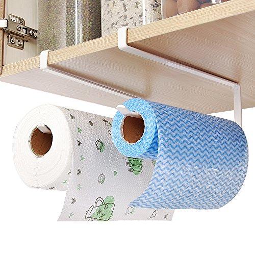 Hysagtek Kitchen Roll Holder Under Cabinet Shelf Toilet Paper Dispenser Storage Rack