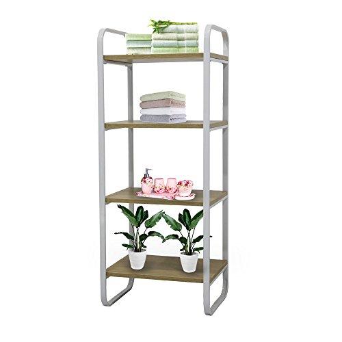 "Yinfeng 4-Tier Shelving Unit Metal Storage Shelves Garage Kitchen Storage Racks White 1575""x1260""x 3937"""
