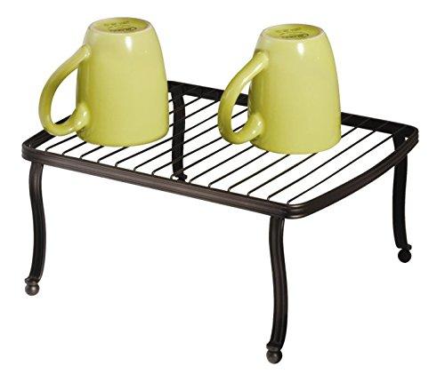 mDesign Free Standing Rectangular Storage Shelf for Kitchen Countertop Pantry Cabinet - Bronze