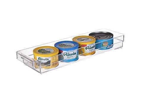 Scottys TM Refrigerator Freezer and Pantry Storage Organizer Bin - Great to Organize Your Fridge and Whole Kitchen -BPA Free 1 145 x 4 x 2 Inches