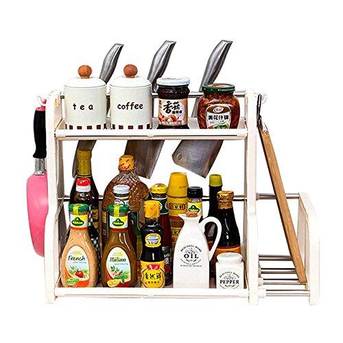 JUJU MALL-Spice Jar Rack Shelf Storage Pantry Kitchen Cabinet Cupboard Organizer Holder 2