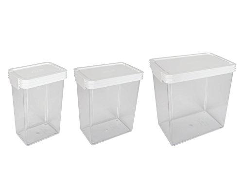 Click Clack Kitchen Essentials Storage Containers with White Lids 125-Quart 25-Quart and 45-Quart Set of 3