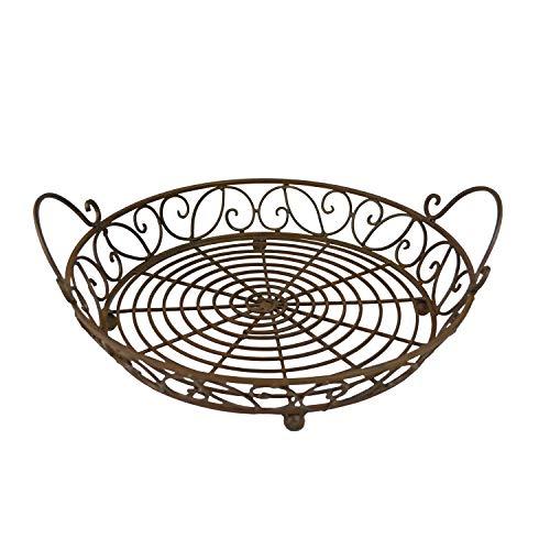 13 in Pie Carrier - Decorative Metal Pie Carrier - Kitchen Storage Basket Product SKU HD229470