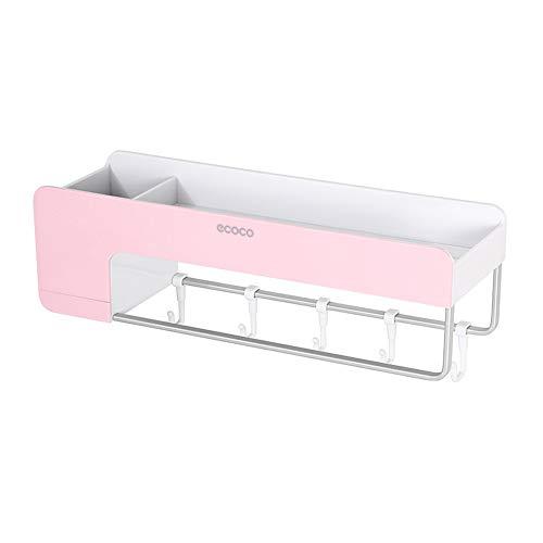 Roloiki Ecoco Bathroom Shelf Storage Organizer Wall Mounted Magnetic Shower Shelf Kitchen Storage Basket Rack with Towel Bar