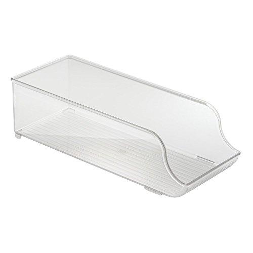 InterDesign Refrigerator and Freezer Storage Organizer Bin for Kitchen Soda Can Holder Clear
