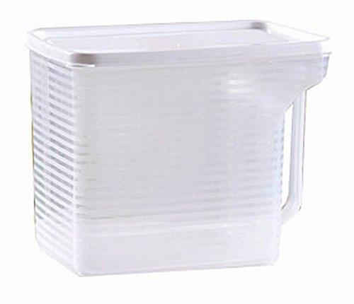 Set of 2 Practical Kitchen Storage Bins CerealsSnacks Storage Canisters White