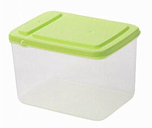 Set of 3 Useful Kitchen Storage Bins CerealsSnacks Storage Canisters Green