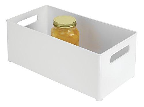 mDesign Refrigerator and Freezer Storage Organizer Bin for Kitchen - 8 x 6 x 145 White
