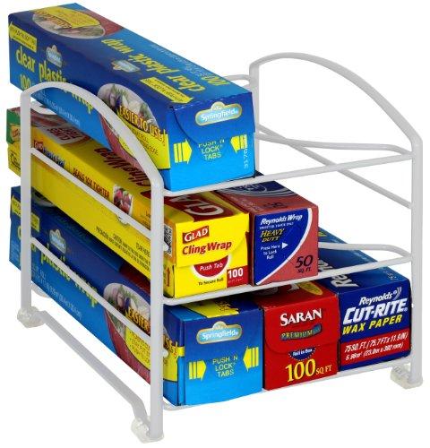 DecoBros Kitchen Wrap Organizer RackWhite Small  Standard 2-12 BOX