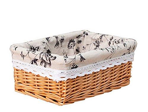 Wicker Basket Food Storage Basket Cosmetic Storage Basket Natural ColorInk