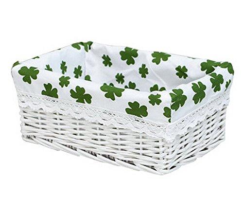 Wicker Basket Food Storage Basket Cosmetic Storage Basket WHITEClover