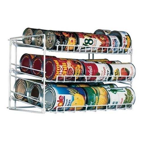 Can Food Storage Kitchen Pantry Cabinet Organizer Canned Goods Rack Holder Shelf