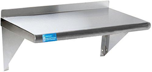Stainless Steel Wall Shelf  Metal Shelving  Garage Laundry Storage Utility Room  Restaurant Kitchen  Food Prep  NSF Certified 30 Length x 14 Width