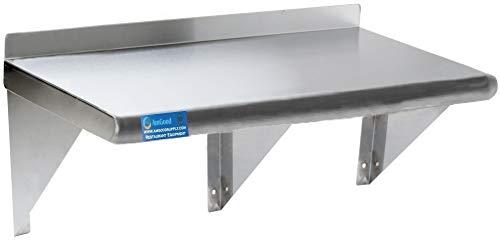 Stainless Steel Wall Shelf  Metal Shelving  Garage Laundry Storage Utility Room  Restaurant Kitchen  Food Prep  NSF Certified 72 Length x 12 Width