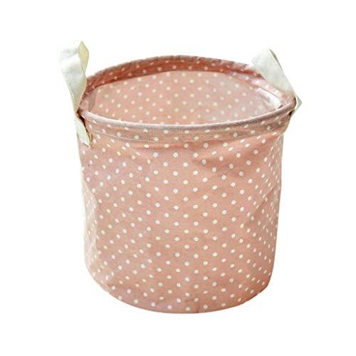 MOPOLIS 1 X Foldable Washing Clothes Small Laundry Basket Bag Storage Organizer  Color - Pink