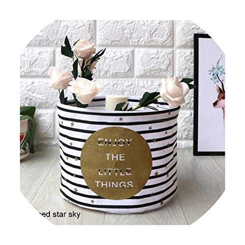 datura flower Small Laundry Basket for Toy Cartoon Storage Barrel Dirty Clothes Sundries Pouch Household Organizers Storage Basket Folding BagStriped Star Sky