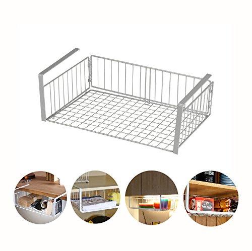 GEYUEYA Home 2 Pack Cabinet Organizer Large Under Shelf Basket Wrap Storage Rack