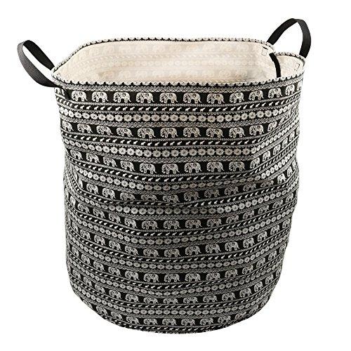 ASOON Large Sized Folding Canvas Fabric Laundry Bag Laundry Hamper Storage Basket with handles