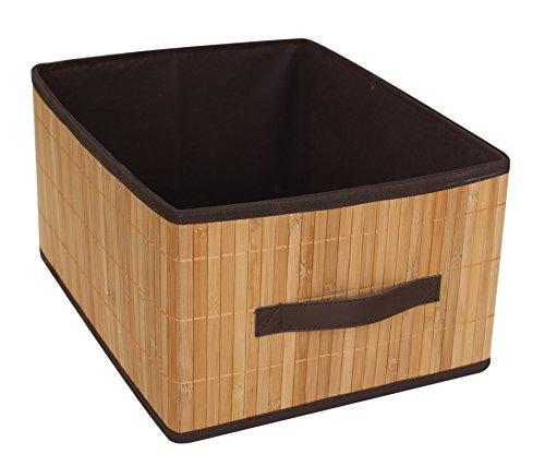 Set of 2 Laundry Hamper Bamboo Square Wicker Clothes Bin Basket Storage Bin Organizer Retail Dump Bin 100201