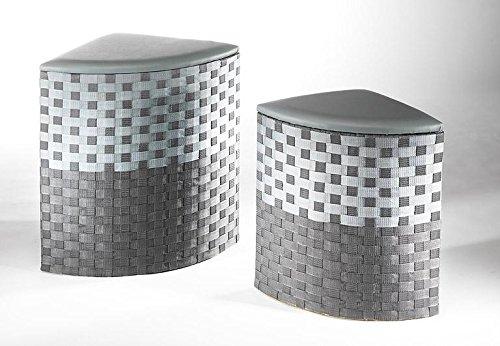 Corner laundry container grey nylon set