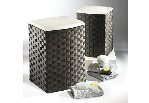 Laundry container black half - round nylon set