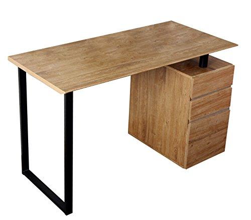 Techni Mobili RTA-1305-PN Modern Computer Desk with Storage Pine