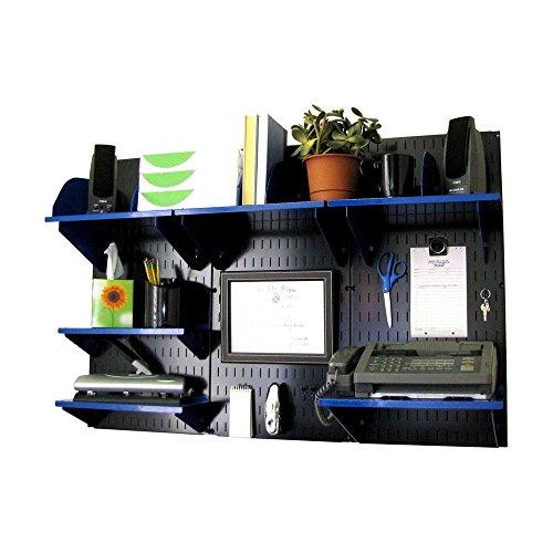 Wall Control Office Wall Mount Desk Storage and Organization Kit BlackBlue