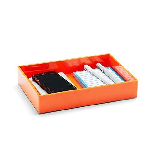 Poppin Medium Accessory Tray - Orange - Desk Office Organizer