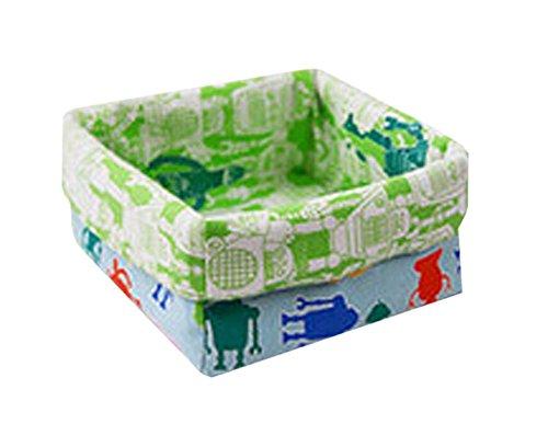 Cotton Desk Storage Organizer Box Basket Bin Container Cool Robot