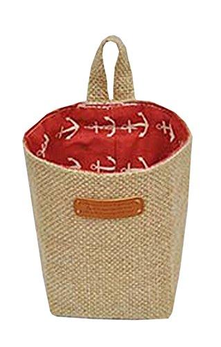 Linen Desk Storage Organizer Basket Hang Bag Pen Bag Container Ocean Style