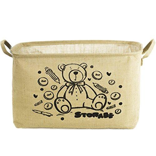 Colomore Storage Basket - Jute Bin for Organizing Kids Toys Baby Clothing Laundry Beige
