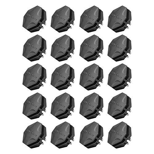 SONGMICS Wire Cube Plastic Connectors for Modular Organizer Closet and Wire Grid Storage Shelving Unit 20 Pieces Black AULPC0B20